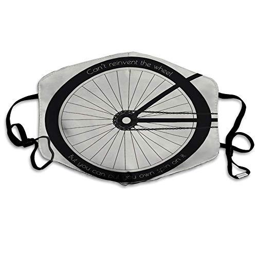 Warmes Gesicht Schal verstellbares wiederverwendbares Fahrradrad mit dem Zitat auf Reifen kann Nicht neu erfinden, Aber Sie können Ihre setzen