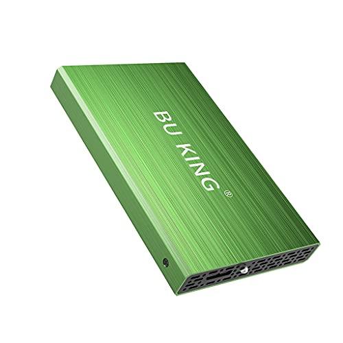BU KING Disco rigido esterno USB 3.0 Disco rigido 1T HD Disco rigido esterno da 2,5 Unità flash PS4 TV Verde