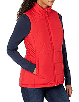 Amazon Essentials Women s Mid-Weight Puffer Vest Outerwear -Red X-Large