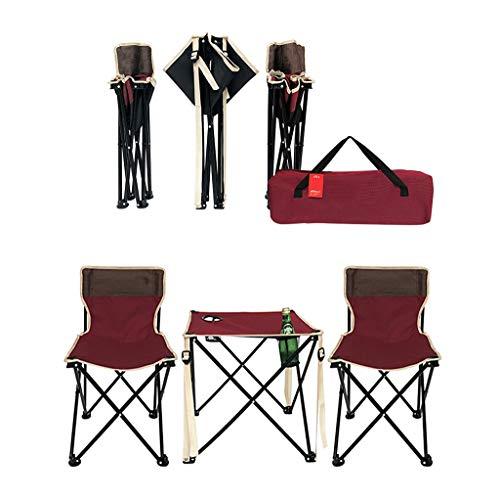 HUXIQI ROMX Grand Patio - Juego de Bistro de Patio de Acero Premium, Juegos de Muebles de Patio Plegables para Exteriores, Juego de 3 Piezas de Mesa y sillas de Patio Plegables