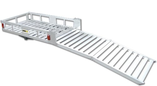 MaxxHaul 70275 Aluminum Cargo Carrier | With 60' Folding Ramp | 53.5' x 29'