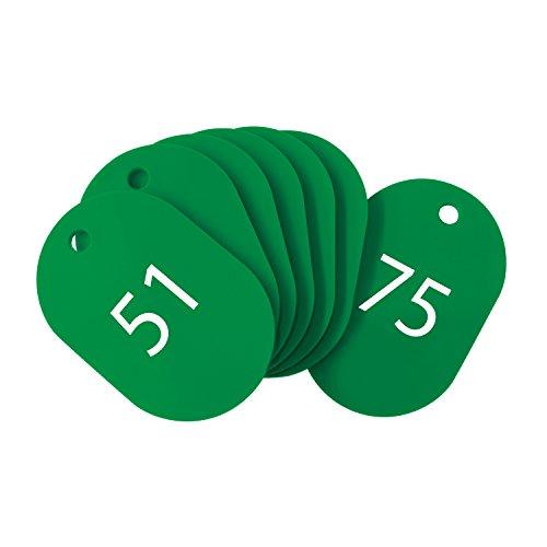 オープン工業 番号札 小 緑 25枚 51-75番 セット BF-72-GN