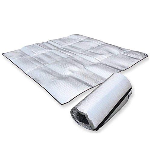Alu Campingmatte, 12Shage Wasserdicht Isoliermatte Zeltmatte Bodenmatte Isomatte (1.2m*2m)