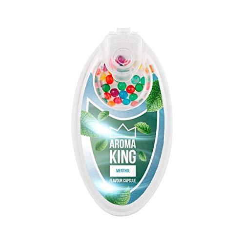 AROMA KING - Premium Menthol Kapseln 100er Set   DIY Menthol Filter für unvergesslichen Flavour Geschmack   inkl. Box zur Aufbewahrung der aromatischen Click Hülsen Kugeln