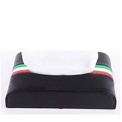 1pcs Auto-Gewebe-Kasten-Carbon-Faser-Hochwertige Eleganz Flagge for i30 ix35 E46 E39 E90 (Color Name : Green)