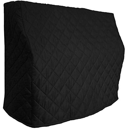 Quilted Upright Piano Cover/Piano Cover - Yamaha P22-45' Quilted Custom Made to Your piano Size  Premium Upright Piano Protective Cover   Bundle with L&L Design Piano-Table Topper (2 Items)