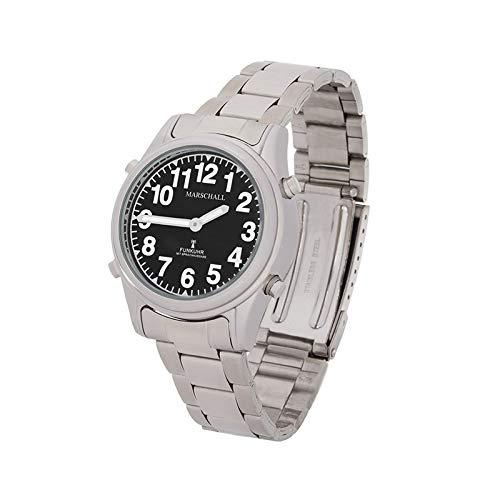 Sprechende Funk-Armbanduhr Damen & Herren Gliederarmband Black Stile Damenuhr