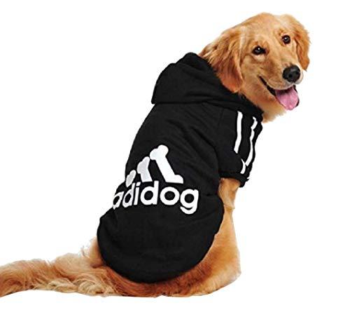 Felpa con cappuccio per cani - maglia - T-shirt - Colore Nero - cane - Taglia S