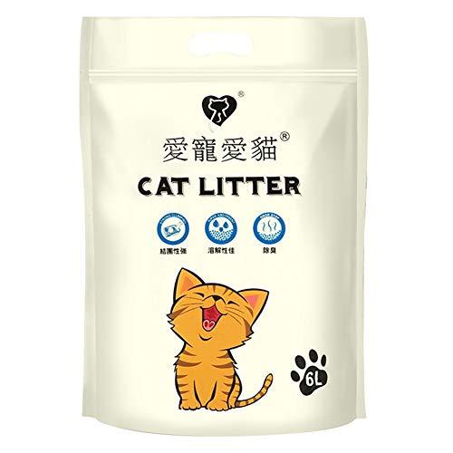 JCL-Cat litter 6L Tofu Kattenbakvulling Milieuvriendelijk Agglomerante Nest Waterabsorptie Deodorant Milieuvriendelijk (Color : 1)