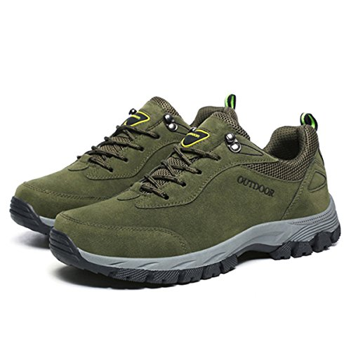 Gracosy Hombres Senderismo Zapatos Escalada Deportes al Aire Libre Senderismo Zapatillas Caminar Impermeable Zapatos de montaña Correr Zapatos Deportes Al Aire Libre Hombre Escalada Zapatos