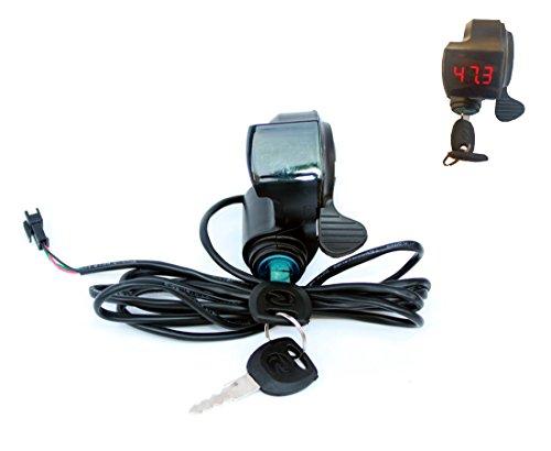 Controlador eléctrico de la bici Llave Cerradura Interruptor Exhibición Número De Voltaje...