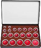 PGKCCNT Metal Watch Back Cover Press Muebles más cercanos, envasados en Accesorios de Herramientas de Caja de Almacenamiento (Color: 20pcs Rojo) (Color : 20pcs Red)