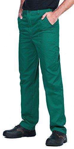 Pantalones de trabajo para hombre, S - XXXL, Pantalones de seguridad, Made in EU, Azul, Rojo, Verde, Bianco (XL, Verde)