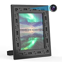 Hidden Security Camera WiFi Photo Frame,FUVISION 1080P Nanny Cameras and Hidden Cameras Frame with Night Vision,Motion Detect,365 Days Battery Standby,Live View with iOS,Android App Frame Hidden Cam