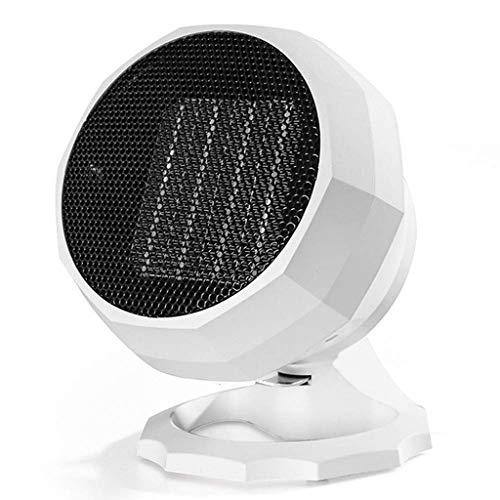 XJJZS Calentador eléctrico de Escritorio, Mini Inicio Calentador eléctrico de Invierno Ajustable Tamaño 156x156x210mm Personal de Escritorio pequeño Ventilador eléctrico del termostato