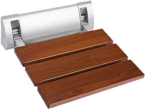 Wandstoel opvouwbare opklapbare douchestoel, aan de muur gemonteerde oudere gehandicapte badkamer veiligheidsbank stoel 12.8-12.4 inch (rood sandelhout)