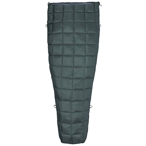 Marmot Micron 50 Long Sac de Couchage Mixte Adulte, Crocodile/Grey Storm, FR Unique (Taille Fabricant : 198 cm)