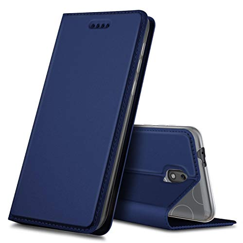 Verco Handyhülle für Nokia 2.2, Premium Handy Flip Cover für Nokia 2.2 Hülle [integr. Magnet] Book Hülle PU Leder Tasche, Blau