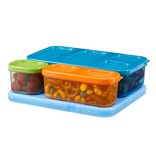 Rubbermaid LunchBlox Kids Lunch Box Container Set, Flat,...