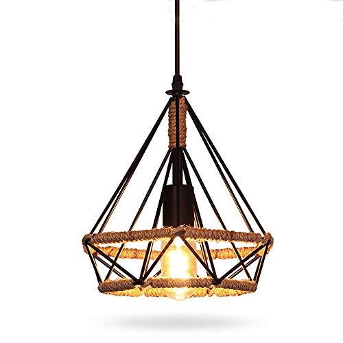 SFGH Lámpara De Cuerda De Cáñamo E27 Lámpara De Altura Ajustable Sala De Estar Dormitorio (8W) (Size : 25cm)