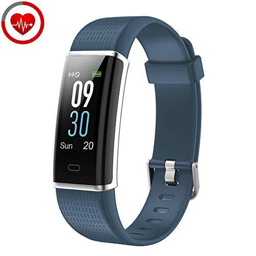 YAMAY Pulsera de Actividad Inteligente con Pulsómetro, Impermeable IP68 Smartwatch con 14 Moda Deportiva, Podómetro Pulsera Inteligente para Mujer Hombre Reloj Inteligente Android y iOS Teléfono