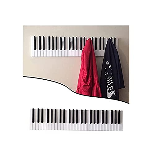 Piano Coat Racks/Piano Coat Hook for Hanging -Unique, Piano Wall Hook with 16/21 Flip-Down Hooks for Hanging Coats, Scarves, Purses and More(21 Hooks)