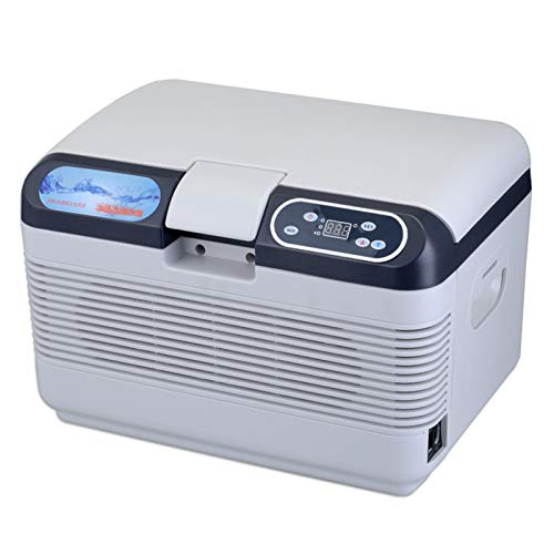 Refrigerador De Encimera Mini Nevera 12 litros AC/DC Refrigerador De Doble Uso para Automóvil Y Hogar para Automóviles, Hogares, Oficinas Y Dormitorios