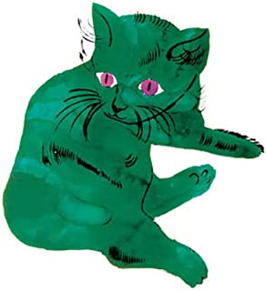 Posters: Andy Warhol Poster Art Print - Green Cat, C. 1954 (14 x 11 inches)
