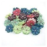 JINGGEGE Jengijo Flores secas-50 Piezas de 4,5 cm Flor de la Margarita Cabeza Mini Decoración Decoración de Flores Artificiales Inicio de Boda de la Guirnalda DIY Tocado FA (Color : 21)