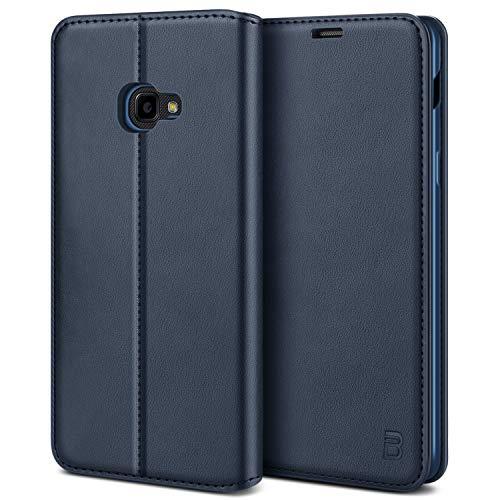BEZ Handyhülle für Xcover 4s Hülle, Premium Tasche Kompatibel für Samsung Galaxy Xcover 4s / Xcover 4, Tasche Hülle Schutzhüllen aus Klappetui mit Kreditkartenhaltern, Ständer, Magnetverschluss, Blau