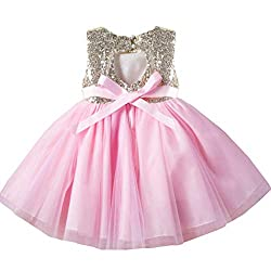 Pink07 Tulle Tutu Baby Dress With Sequins Age 3-9 Years