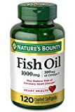Nature's Bounty Fish Oil, 1000mg, 300mg of Omega-3, 120 Odorless Softgels (Packaging May Vary)