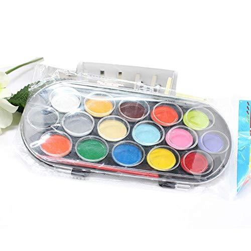 16 kleuren aquarel verven met penseel en doos, heldere kleur tekening kleur Art Tool 16 colors As Picture Show