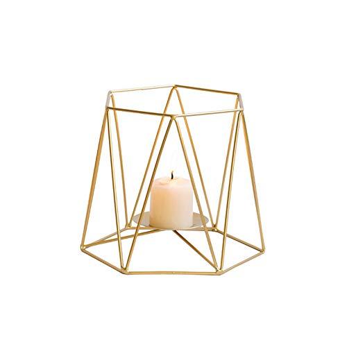 Decoración Candelabro Moda Simplemente Hierro Artesanía Tealight Creativo Casa Forma Geométrica Candelabros Multi Función Decoración Hogar Accesorio S Caliente