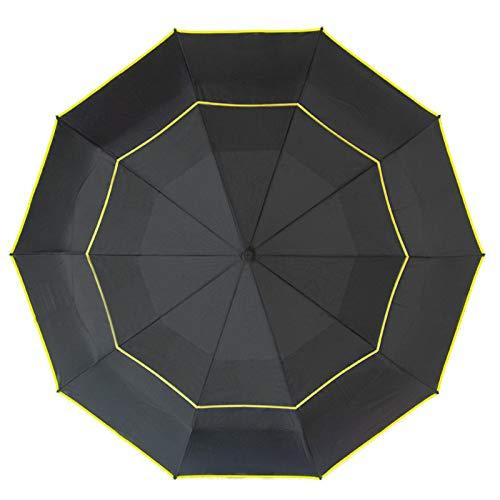 N / B Paraguas Viaje a Prueba Viento a Prueba Viento 125 cm, Lluvia/Resistente al Viento 12 Costillas Marco de Acero 12 Costillas Abre automáticamente/Cierra el Paraguas, liviano y portátil