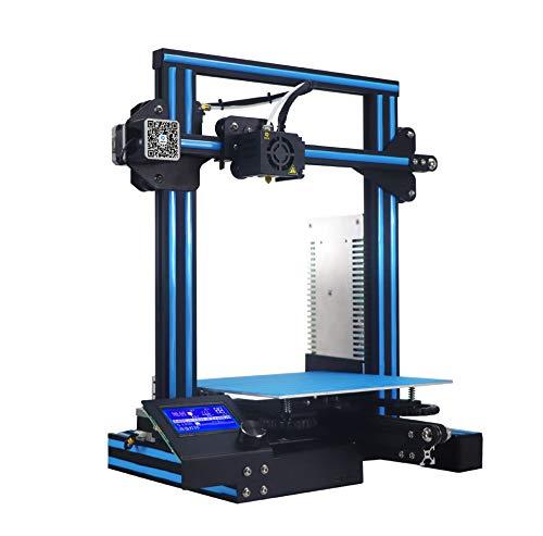 WUAZ Imprimante 3D, avec Impression Taille 220 * 220 * 250Mm, Détecteur Filament, CV Break, Plein Écran Couleur Tactile Et Double Axe Z Vis Plomb, Kit Assemblé Rapide