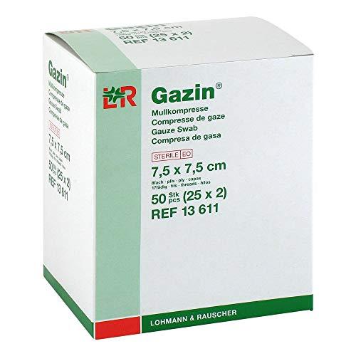 GAZIN Mullkomp.7,5x7,5 cm steril 8fach 25X2 St
