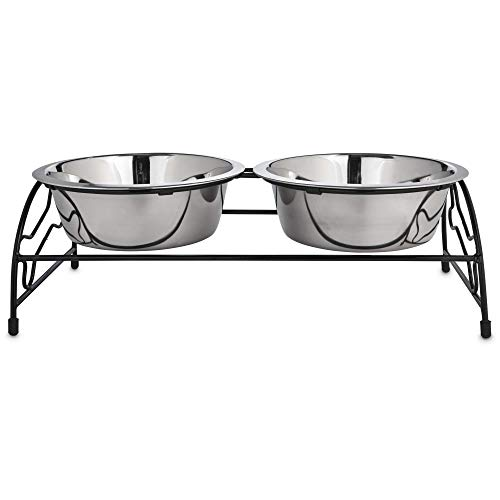 Petco Brand - Harmony Stainless Steel Double Diner, 7 Cups, 5 FZ, Silver
