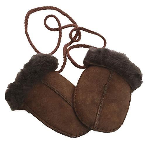 Eastern Counties Leather - Moufles en peau de mouton - Bébé (Taille unique) (Chocolat)