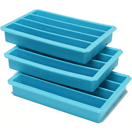 Webake Silicone Ice Cube Trays for Water Bottles Ice Cube Mold 12 Cavity, Easy Release Long Ice Cube Sticks For Bottled Beverage, Soda, Sport Drinks, Burritos Egg, Pack of 3
