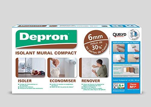 Quelyd - Aislamiento de placas Depron formato G6 – Grosor 6 mm – 10 placas de 1 m2