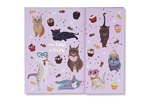 Tri-Coastal Design - Escritorio semanal Planner Organizer, con cierre magnético, tapa dura triple, notas adhesivas, recordatorios y cuadernos semanales, sobre de acordeón (Cats)