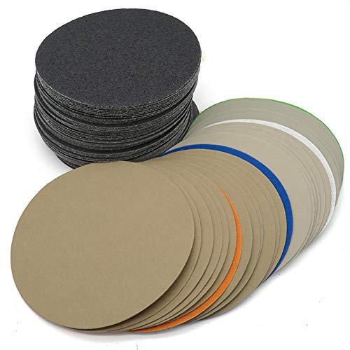 WHKKLN 20 stücke 6 Zoll 150mm Wasserdichte Schleifscheiben Klett Siliziumkarbid Schleifpapier Nass/Trocken 60 bis 10000 Körnung zum Polieren