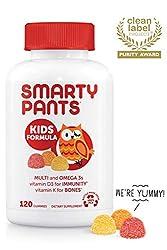 SmartyPants Kids Formula Daily Gummy Vitamins: Gluten Free, Multivitamin & Omega 3 Fish Oil (DHA/EPA