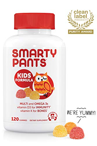 SmartyPants Daily Kids  Multivitamin Gummies: Vitamin C, D3,...