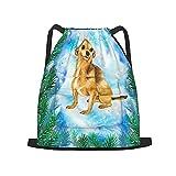 usophia zaino con coulisse,simbolo del cane chihuahua del design della c, zaino da palestra per borsa a tracolla da campeggio da viaggio per uomo, donna, bambino.