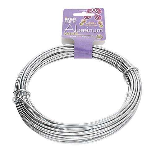 The Beadsmith Anodized Aluminum Wire – 12 Gauge – 39 feet – Silver Color – Bendable Craft Wire Used to Jewelry Making, Wire Wrapping, Sculpting, Floral, Modeling and Other DIY Arts & Crafts