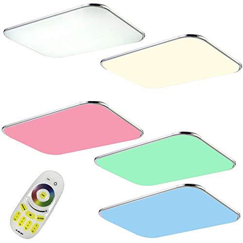 Preisvergleich Produktbild JINPIKER 48W RGB Ultradünn LED Deckenleuchte Flur Wohnzimmer Küche Badleuchte, Energieeinsparung und Umweltschutz Deckenlampe (48W RGB)
