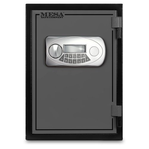 Best Deals! Mesa Safe MESA MF50E U.L. All Steel Classified Fire Safe with Electronic Lock, 0.6-Cubic Foot, Black and Grey