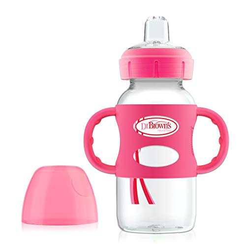 Dr. Brown's Options Wide-Neck Sippy Spout Baby Bottle with Silicone